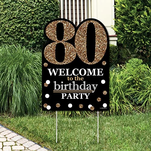 This Fabulous Personalized 80th Birthday Yard Sign From Amazon Is Such A Vibrant Way To Welcome Guests The Celebration Versatile Looks Great