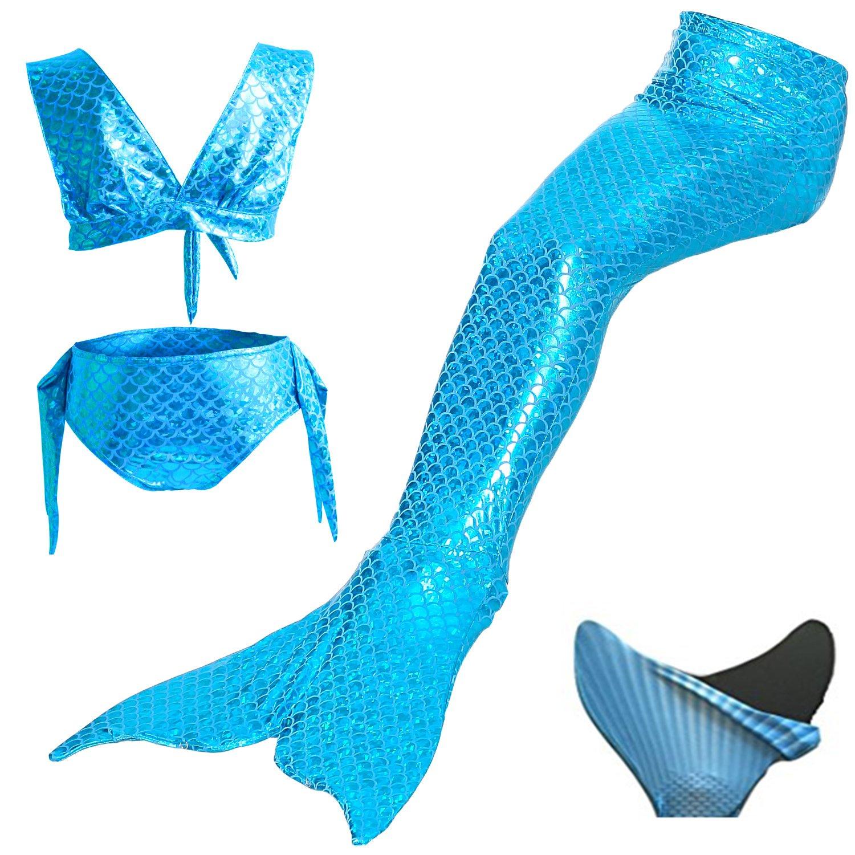 loenzo otiz beautiful Girl Mermaid bikini and fins set 4PC