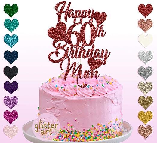 Decoración personalizada para tarta de 60 cumpleaños, diseño ...
