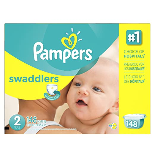 Amazon.com: Pampers Swaddlers Diapers Size 1, 148 Count: Baby