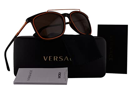 5b11493c50c02 Image Unavailable. Image not available for. Color  Versace VE4335  Sunglasses Havana w Brown Lens 10873 VE 4335