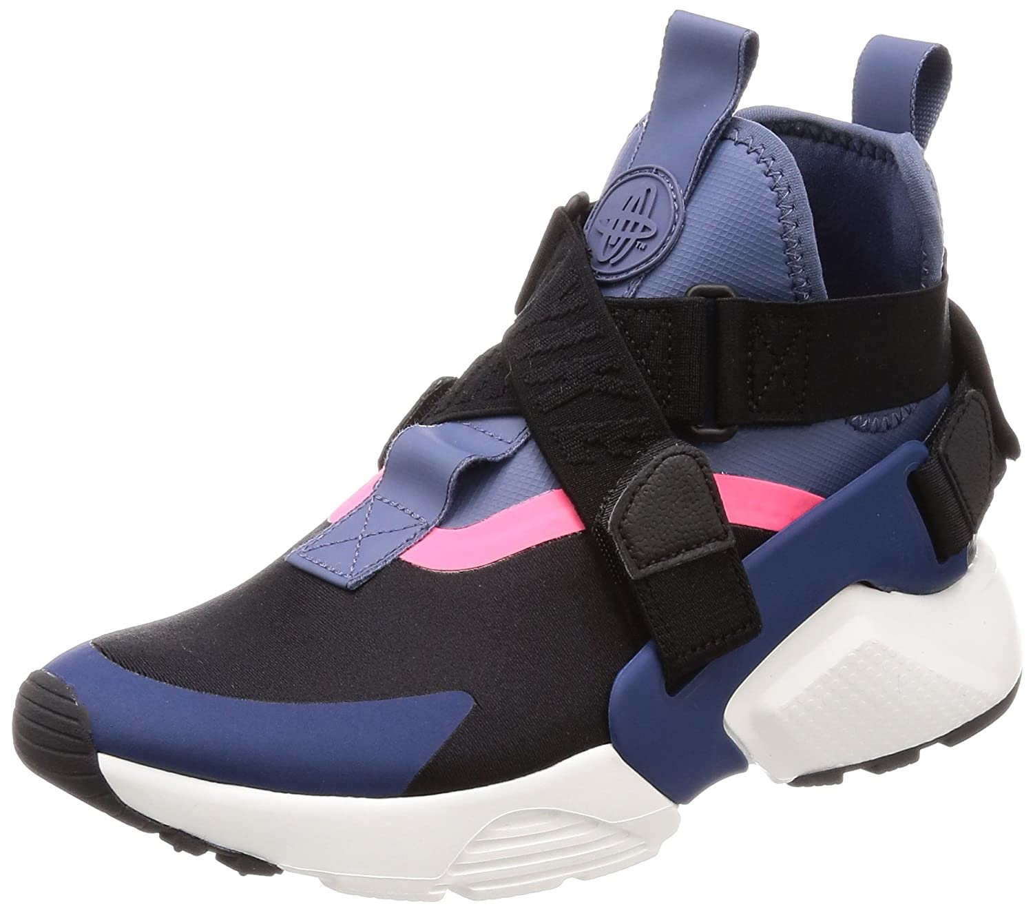 [ナイキ] スニーカー W Air Huarache City AH6787-002 B077SB82Z8 23.0 cm|BLACK/NAVY-DIFFUSED BLUE-RACER PINK BLACK/NAVY-DIFFUSED BLUE-RACER PINK 23.0 cm