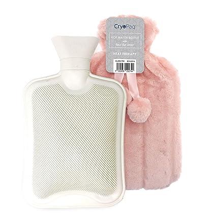 Bolsa de agua caliente afelpada, muy confortable para las noches de invierno. Lujosa botella de 2L con funda extra suave de peluche. Un regalo ...
