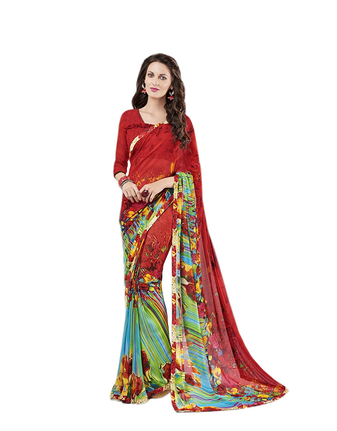 1b62f9e0 Top3: KIMANA Indian Designer Ethnic Bollywood Traditional Georgette Party  Wear Saree S4334