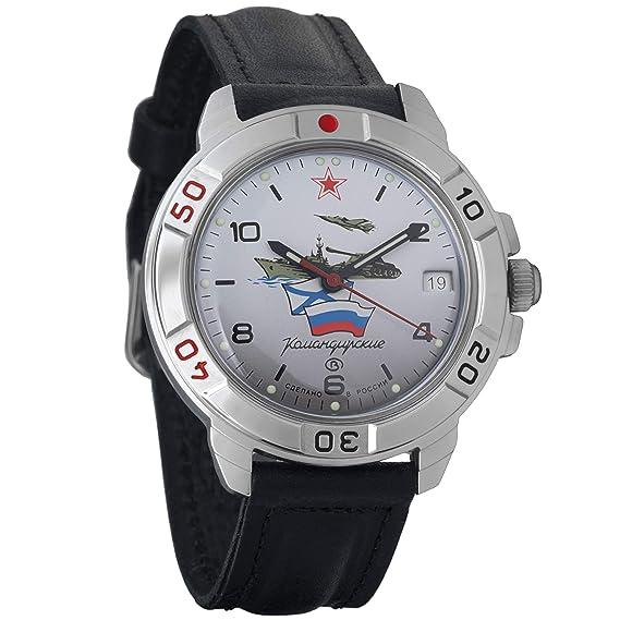 Vostok KOMANDIRSKIE 2414 431535 Militar ruso reloj mecánico: Amazon.es: Relojes
