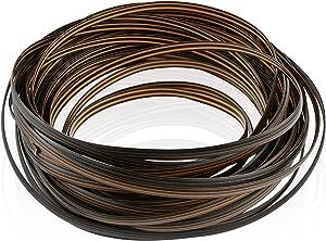 Worldity Wicker Repair Kit, Polyethylene Plastic Rattan Wicker Repair Supplies, Waterproof Rattan Weaving Supplies for Outdoor Basket, Chair, Benches(Brown, 50 feet)