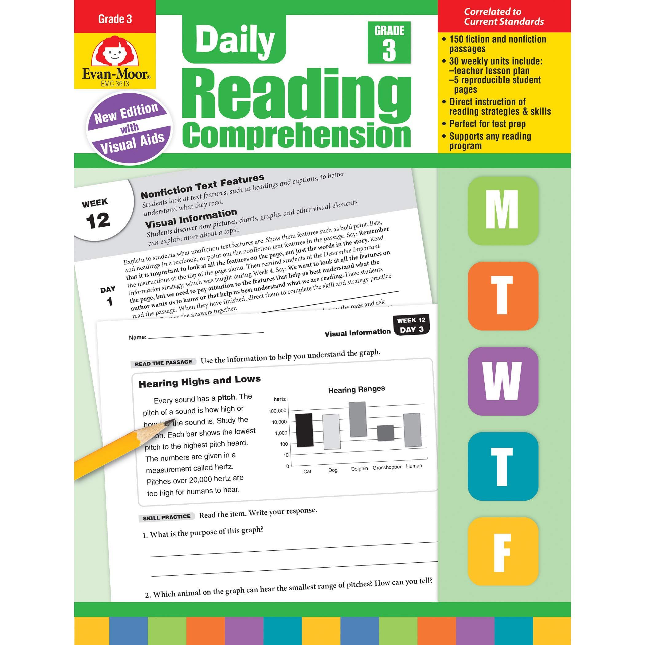 - Amazon.com: Evan-Moor Daily Reading Comprehension, Grade 3