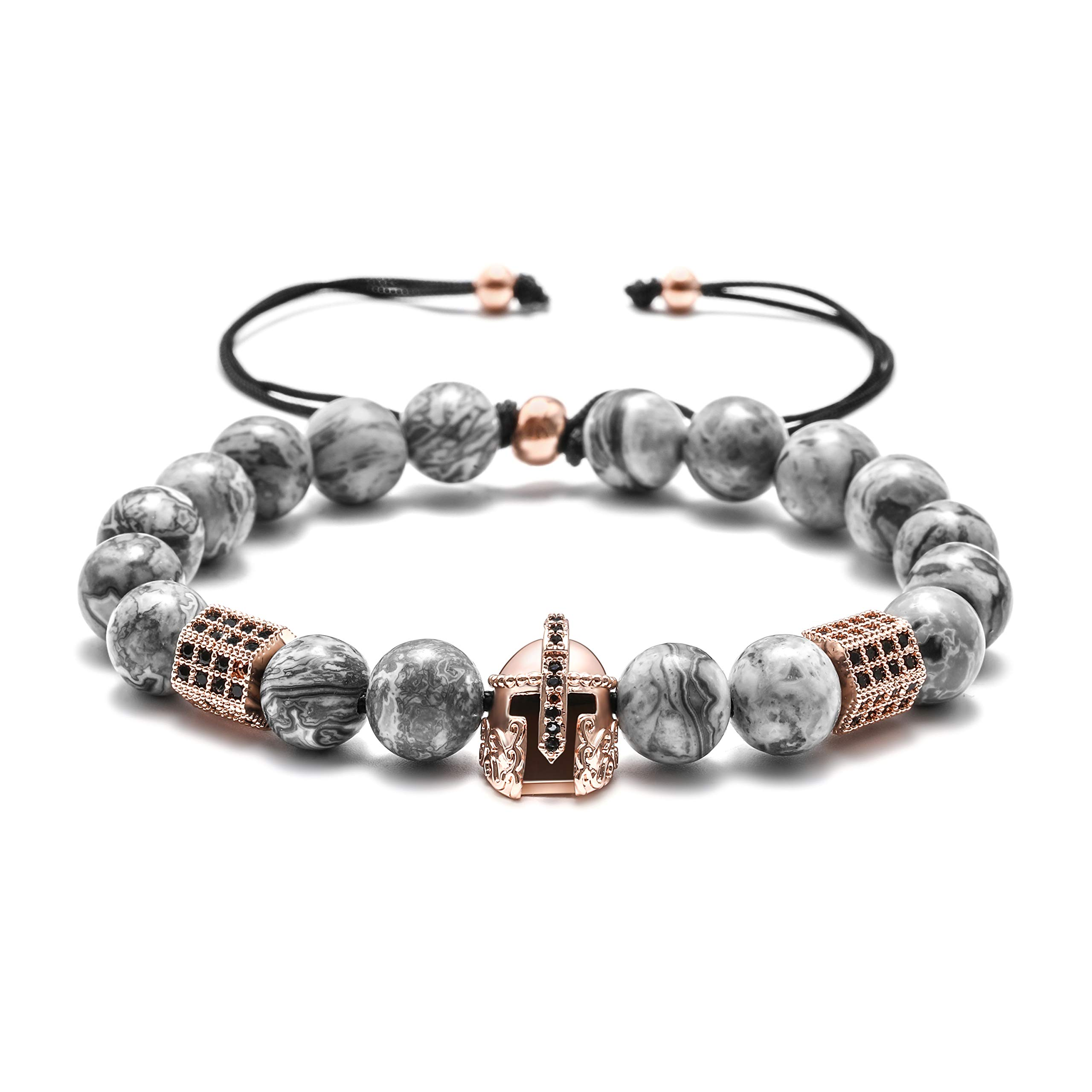 Natural Gemstone Bead Bracelets - 8mm Natural