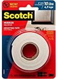 Scotch Mirror Mounting Tape , 1-inch x 60-inches, White, 1-Roll (515P)