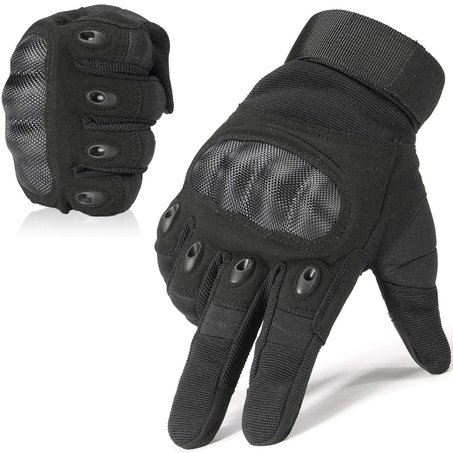 WTACTFUL Army Military Tactical Touchscreen Hard Knuckle Full Finger Gloves