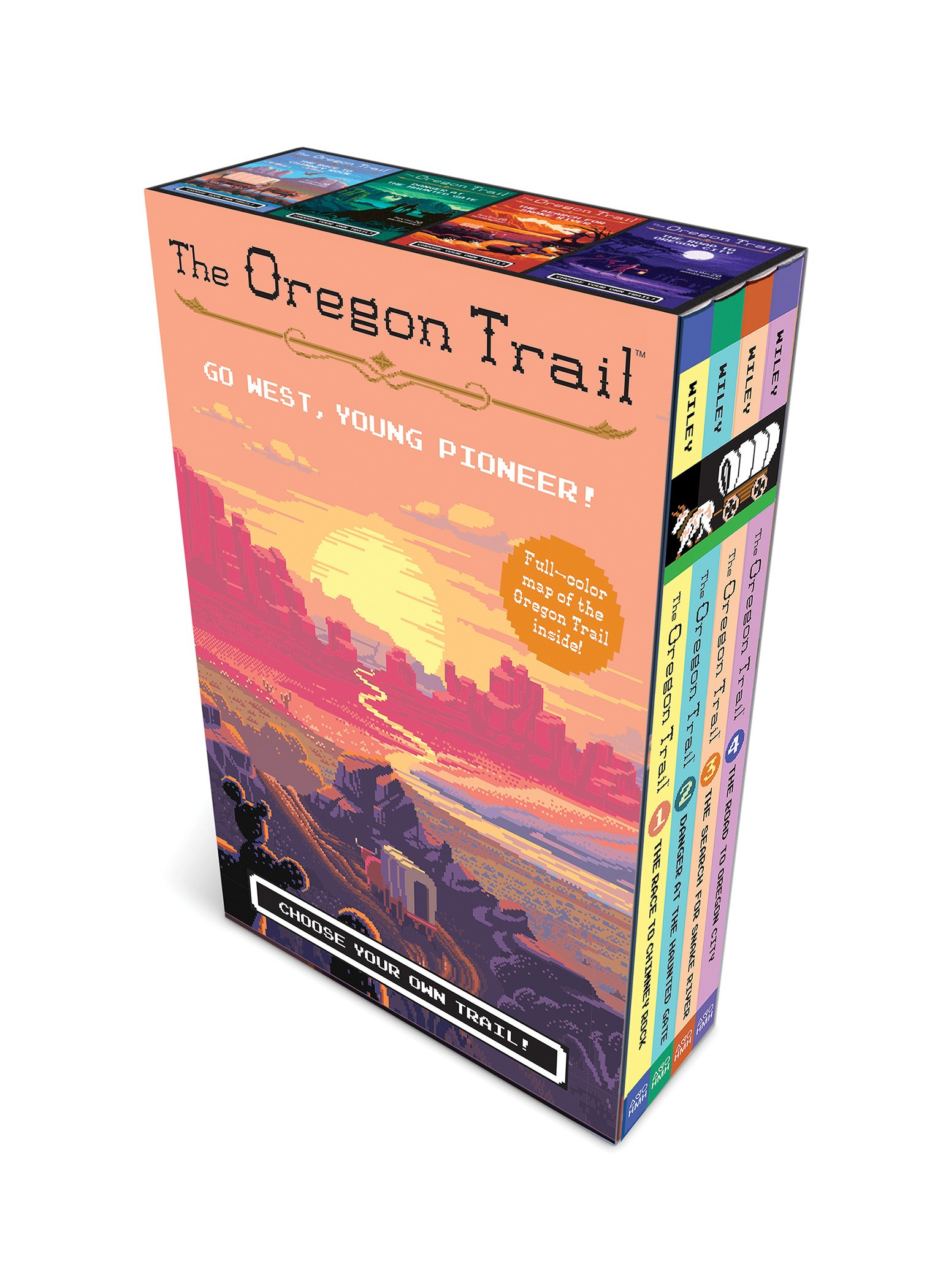 The Oregon Trail (paperback boxed set plus poster map): Jesse Wiley ...