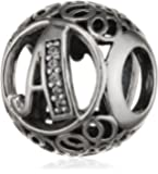 "Pandora Damen-Charm Vintage ""A"" 925 Zirkonia weiß-791845CZ"