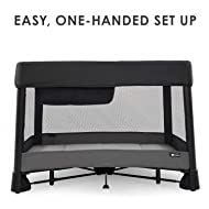 4moms Breeze Plus Portable playard with Removable Bassinet and Changing Station - Easy one Push Open, one Pull Close, from The Makers of The mamaRoo