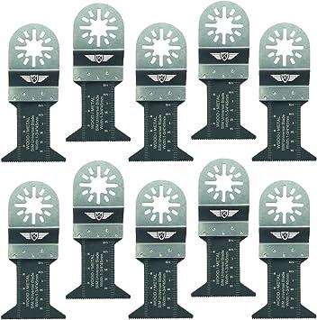 10 x 44mm TopsTools UN44B/_10 Cuchillas para metal para Bosch Fein Makita Milwaukee Einhell Hitachi Parkside Ryobi Worx Multi-herramienta Workzone y Accesorios de Multi-herramientas No-StarLock