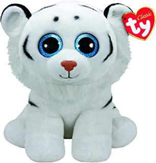 Ty Beanie Babies Tundra, Tigre, Color Blanco, 40 cm (United Labels Ibérica