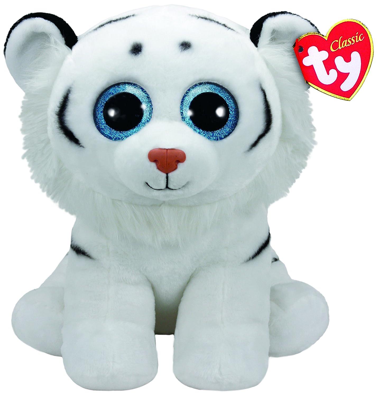 Ty Beanie Babies Tundra, Tigre, Color Blanco, 40 cm (United Labels Ibérica 90227TY): Amazon.es: Juguetes y juegos