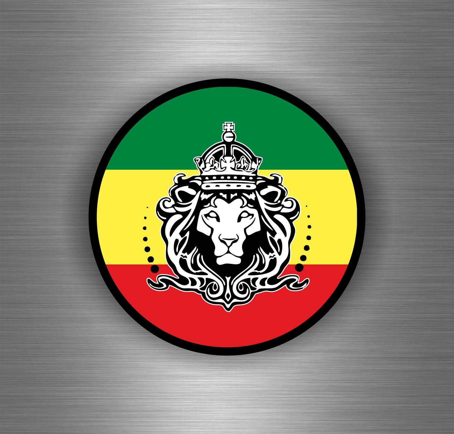 Amazon fr autocollant sticker voiture rasta jah reggae one love lion drapeau jamaique ref6