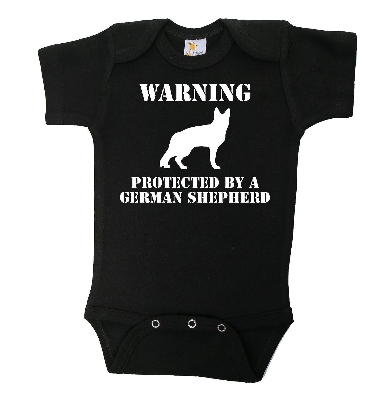 """Amazon Baffle """"Warning Protected By A German Shepherd"""" Black"""