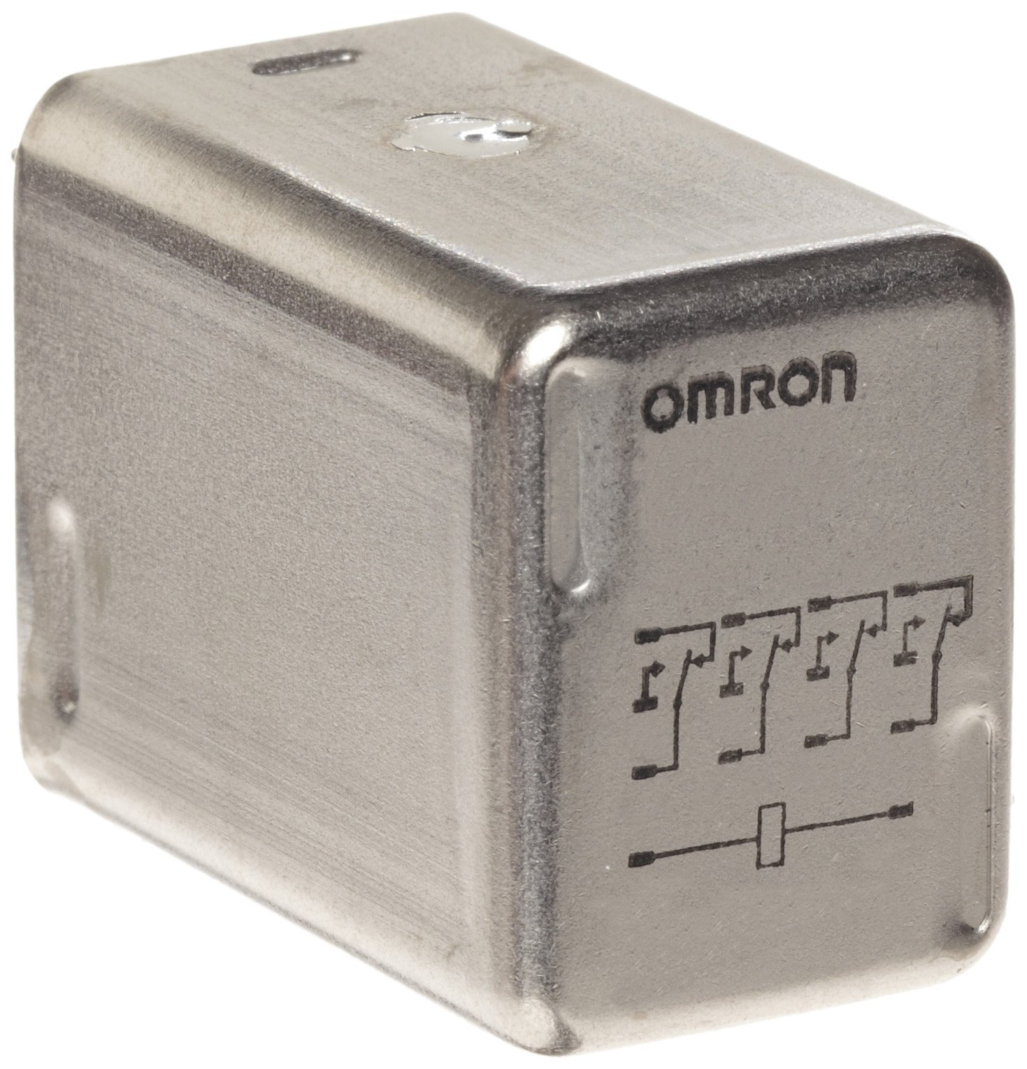 Omron MY4ZH-US AC110/120 Hermetically Sealed Relay, Class 1 Division 2 Approval, Plug-In Socket/Solder Terminal, Quadruple Pole Double Throw Bifurcated Contacts, 9.9 to 10.8 mA at 50 Hz and 8.49 to 9.2 mA at 60 Hz Rated Load Current, 110 to 120 VAC Rated  by Omron (Image #1)