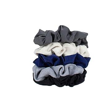 8ca5d77f362 Amazon.com   Hair Scrunchies for Women- 5 pack- Includes Velvet Scrunchies  for Ponytails