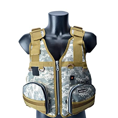 Amairne-Made Boat Buoyancy Aid Sailing Kayak Fishing Life Jacket Vest Camouflage – D22