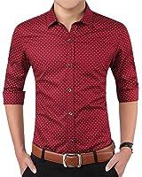 Romano Men's Full Sleeve Casual Red Shirt