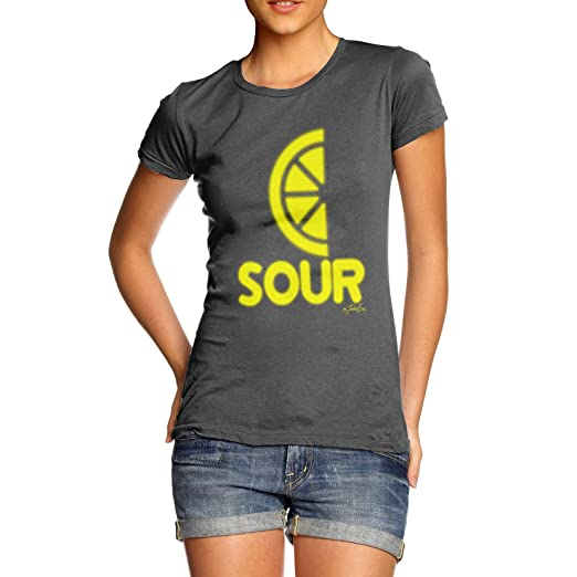 283404aeeef8 Amazon.com  TWISTED ENVY Women s Sour Lemon 100% Cotton T-Shirt ...