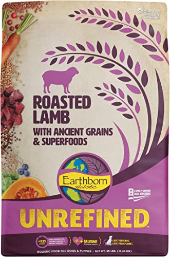 Earthborn Holistic Unrefined Roasted Lamb with Ancient Grains Superfoods Dry Dog Food