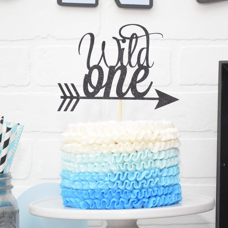 Wild One Cake Topper Birthday Decoration - BLACK