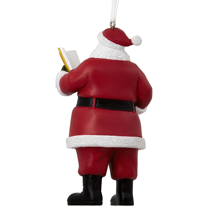 Amazon.com: Mahogany Santa Hallmark Ornament Multicultural; Santa ...