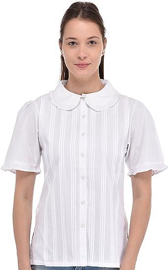 Blusa Algodón Algodón Clásico Blanco Algodón Reproducción Vintage ...