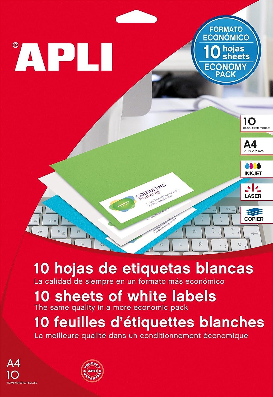 APLI 12927 - Etiquetas blancas imprimibles  (25 16944e8cba3