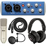 PreSonus AudioBox USB 96 and LyxPro Recording Bundle with Studio One 3 Artist Software