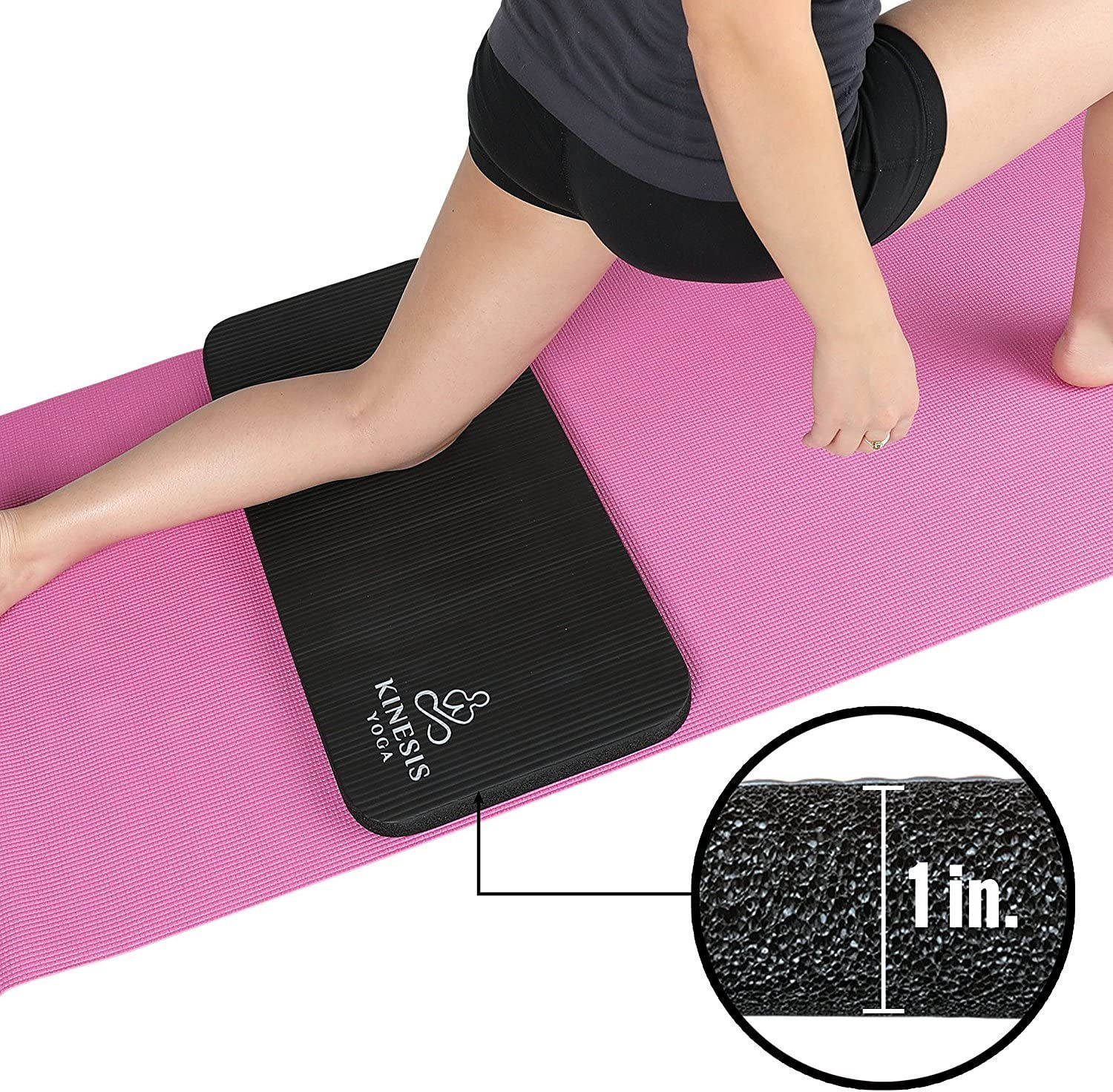 Amazon Com Kinesis Yoga Knee Pad Cushion Extra Thick 1 W Free Bag Sports Outdoors
