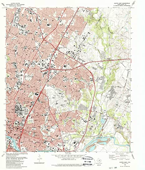 Amazon Com Yellowmaps Austin East Tx Topo Map 1 24000 Scale 7 5