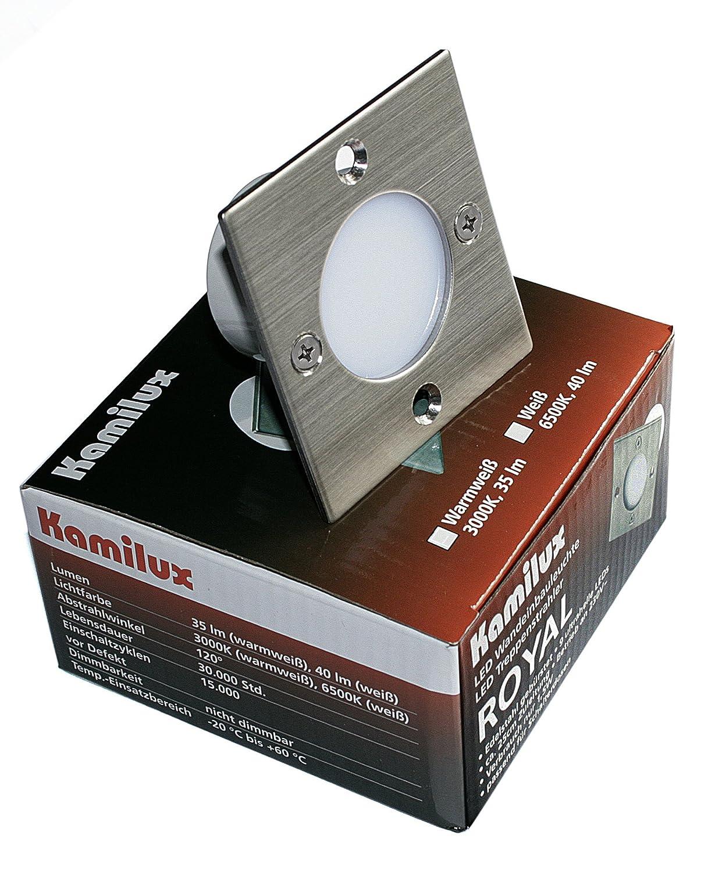 230V LED Wandeinbaustrahler Treppen Leuchten Royal-S IP20 Schalterdosen Einbau
