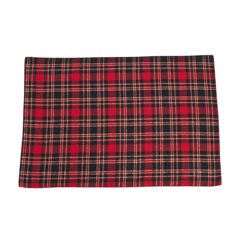 SARO LIFESTYLE 2669.R56R Plaid Design Tree Skirt, Red, 56' 56