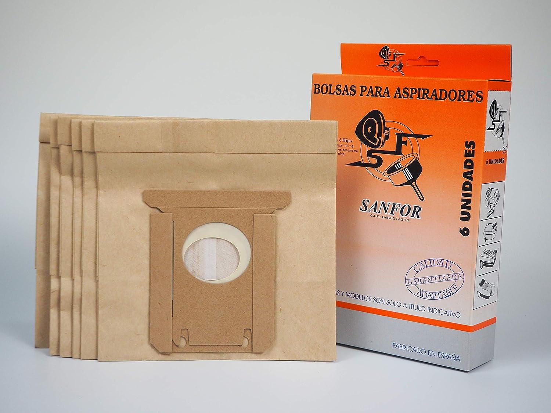 Sanfor 80511 Caja Aspirador ELECTROLUX R-EL50 (9 Cajas de 6 Bolsas ...