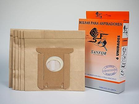 Sanfor 64025 Caja Bolsa aspirador ELECTROLUX R-EL50 6 unidades, Papel, MARRÓN: Amazon.es: Hogar