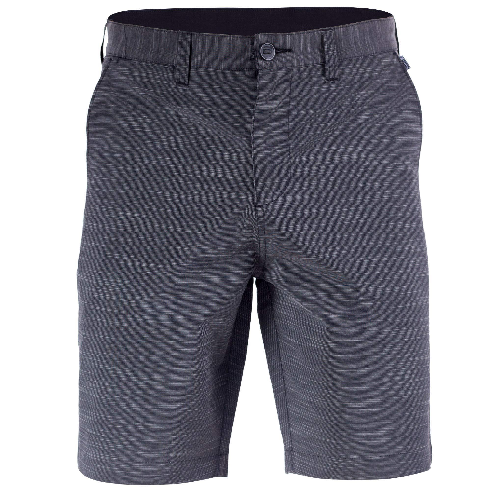 Mens Hybrid Golf Shorts Stretch Quick Dry Swim Trunks Boardshorts Black - 36