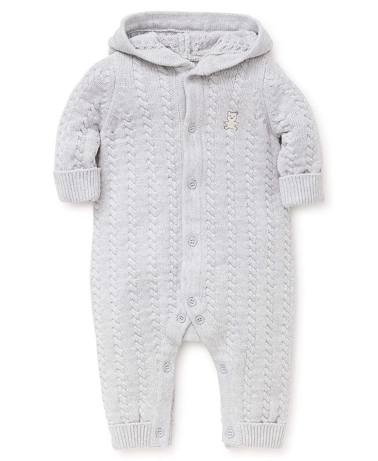 Little Me Baby Sweater Coveralls