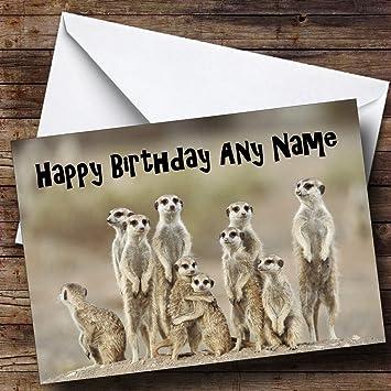 Lots Of Meerkats Funny Personalised Birthday Card Amazon