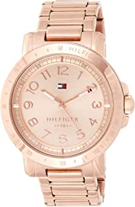 Tommy Hilfiger Liv Women's Rose Gold Dial Stainless Steel Band Watch - 1781396