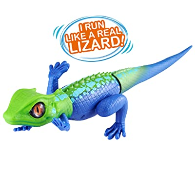 ROBO ALIVE Robotic Lizard Toy Pet (Green + Blue) Series 2: Toys & Games