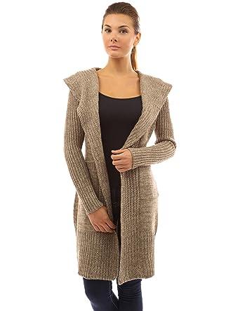 PattyBoutik Women's Hooded Pockets Knit Open Cardigan at Amazon ...