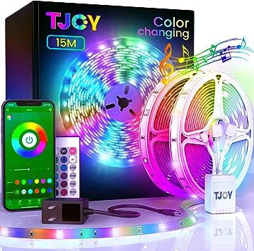 15m Led Strip Lights 25FT//roll Bluetooth 5050 Led Tape Lights Color Changing Kit
