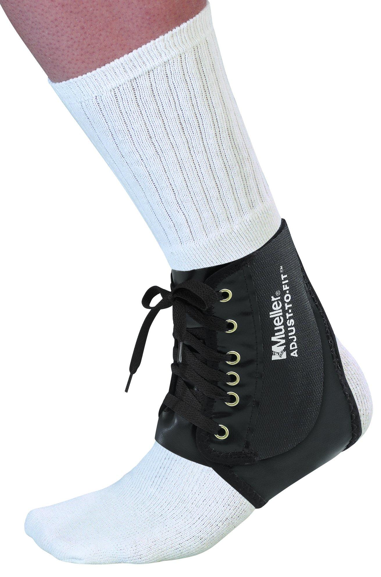Mueller Adjust-to-fit Ankle Brace, Black, One Size