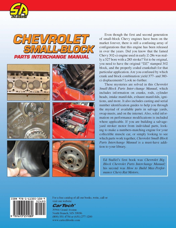 Chevrolet Small Block Parts Interchange Manual Ed Jr Staffel