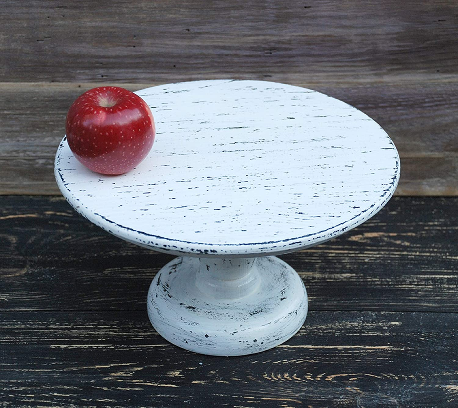 "10"" inches Custom Shabby white Cake Stand,Rustic Wooden Cake Stand,Shabby Chic Wedding,Shabby Chic cake stand,cake pedestal 81oxxJ8IV3L._SL1500_"