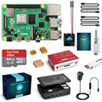LABISTS Raspberry Pi 4 Complete Starter Kit with Pi 4 Model B 4GB RAM Board, 64GB Micro SD Card Preloaded Noobs, 5V 3A…